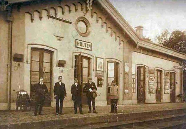 Station Houten in 1900